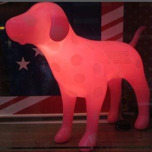 ISO vs pink light up display dog